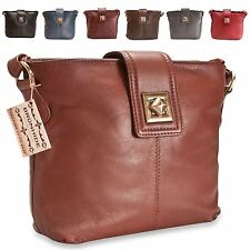 Brunhide Ladies Real Leather Bag  Secure Womens Alsace Collection 114-300
