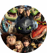 How to Train your Dragon 2 - 8 Inch Round Iced Cake Topper - Personalised