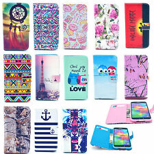 Folio Flip Leather Stand Wallet Card Case Cover For Apple iPhone Samsung Phone