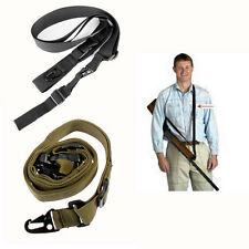 Tactical 3 Three Point Adjustable Bungee Rifle Gun Sling Swivels System Strap
