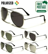 Air Force Aviator Sunglasses - Polarized Lens - Silver Frame - Excellent Quality