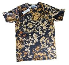 Brand New Authentic Brown Baroque Versace T-Shirt With Medusa Heads Size L