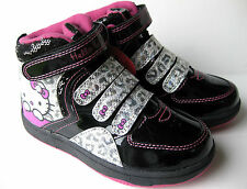 GIRLS HELLO KITTY HI TOPS ANKLE BOOTS LEOPARD TRAINERS PUMPS SIZES 8-2