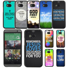 Bible Verse Quotes Proverb God Jesus Back Case For HTC ONE M8