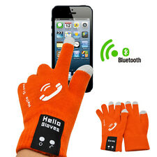 New Bluetooth Touch Gloves Talking Glove for Phones Mic Speaker Christmas Gift