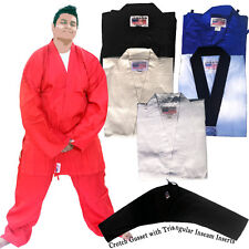 Jawadis Karate Tae Kwon Do Martial Arts Gi Jacket and Pants with FREE White Belt