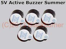 1, 2, 5 Stck. 5V Active Buzzer Summer Magnetic Long Continous Beep Tone B *NEU*