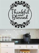 Thankful & Blessed Vinyl Decal Wall Stickers Words Letters Thanksgiving Decor
