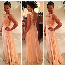 Formal Long Lace Women Prom Evening Party Bridesmaid Wedding Maxi Dress