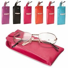 Brunhide Genuine Leather Soft Glasses Case Pouch Reading 221-300