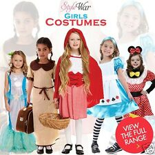 GIRLS SCHOOL FANCY DRESS PARTY COSTUME SNOW GIRL WORLD BOOK DAY COSTUMES S-LARGE