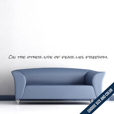 On The Other Side Of Fear Wall Decal - Handwritten Vinyl Sticker