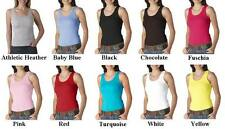 Bella Canvas Ladies Sizes S-2XL Womens 2X1 Rib 100% Cotton Tank Top T-Shirt 4000