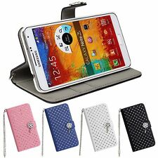 Luxury Diamond Bling Wallet Leather Case For Samsung Galaxy Note 3 N9000 N9005