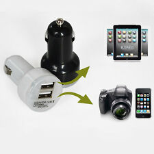 Mini Car Charger Adaptor Dual USB 2-Port for Cellphone MP3/4 Tablet
