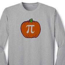 PUMPKIN PI Thanksgiving Funny Nerd T-shirt Math Geek Pie Long Sleeve Tee