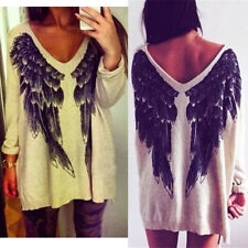 Women Loose Knitted Sweater Batwing Sleeve Tops Cardigan Casual Mini Dress