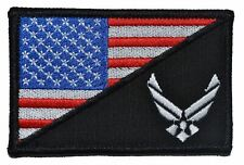 U.S. Air Force USAF USA Flag Military Morale - Large Hat / Chest Patch 3.5x2.25