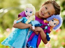 2 pcs Disney Frozen Princes Elsa/Anna Olaf/Sven Soft Stuffed Plush Doll Gift Toy