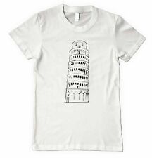 PIZA TOWER ROME ITALY Unisex Adult T-Shirt Tee Top