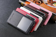 Sheepskin Leather View Window Flip Stand Cover Case For Samsung Galaxy Note 4