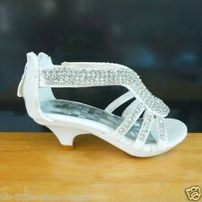 White Dress Pageant Crowning Girls Sandal Shoes Baby & Toddler Size 7