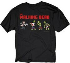 THE WALKING DEAD PIXEL DARYL & WALKERS ZOMBIES CROSSBOW TWD AMC T SHIRT S-3XL