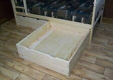 TWIN OR FULL BED STORAGE DRAWERS *5 Stain Options* AMISH MADE in USA