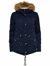 ONLY Damen Winter Jacke KATE SHORT CANVAS JACKET Parka navy blazer dunkel blau