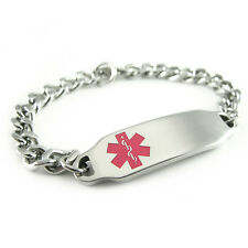 Engraved FREE, Medical Alert Breast Cancer Patient ID Bracelet & ID Card i2C-BS1