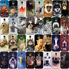 Cute Animal Dog Cat Fish Pattern Draw Hard Shell Case Cover For Samsung S3 S4 S5
