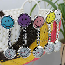 5 Colors Choice New Smile Face Unisex Candy Color Nurse Pocket Watch Watches