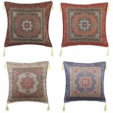 Turkish Ottoman Silk Ceramic Tapestry Pillow Cushion Zippered Velvet, Handmade