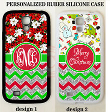 CHRISTMAS SNOW RED GREEN CHEVRON MONOGRAM Case For Samsung Galaxy S9 S8 NOTE 9 8