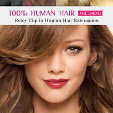 Clip in 100% Remy Human Hair Extensions 16 18 20 22 24 26inch Local Delivery
