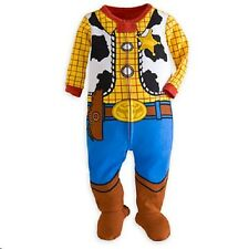 NWT Genuine Disney Store Toy Story Woody Stretchie Sleeper boys Pajamas sz 9-24M