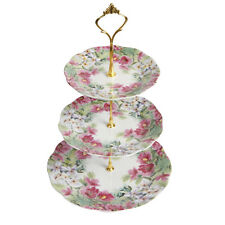 3 Tier Ceramic Cake Stand Afternoon Tea Wedding Party Cupcake Vintage Display