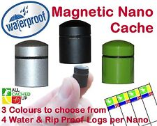 Magnetic Nano Geocache Geocaching Container -Virtually Indestructible Log Sheets