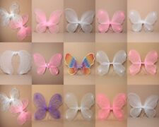 SMALL NET, GLITTER, BEAD FAIRY, BUTTERFLY WINGS, PINK, WHITE, - PARTY, DRESS UP