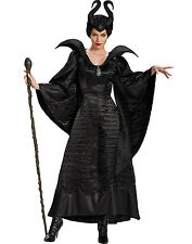 Maleficent New Disney Sleeping Beauty Deluxe Black Gown Adult Costume S-XL