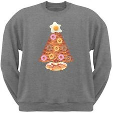 Breakfast Bacon And Eggs Christmas Tree Grey Adult Crew Neck Sweatshirt