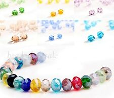 80pcs Rondelle Crystal Loose Spacer Beads 4x6mm For Jewelry