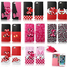 3D Bow Stand Wallet Magnetic Flip Leather Case For iPhone 4 5C 5S 6 4.7''/6 Plus