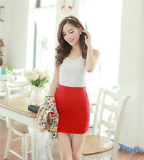 Women fashion sexy slim seamless stretchy tight fitted bodycon short mini skirt