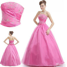 Custom Long Evening Formal Party Prom Dress Ball Gown Plus Size 6 8 10 12 14 16+
