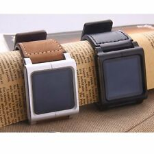 New Fashion Leather Multi-Touch Wrist Strap Watch Band Cover For iPod Nano 6th 6