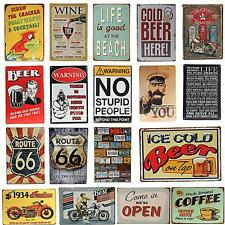 18 Kinds Retro Vintage Metal Tin Sign Plaque Poster Wall Bar Pub Club Home Decor