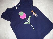 GYMBOREE BRIGHT TULIP NAVY FROG TULIP TOP SIZES 2T,3T,4T,& 5T NWT