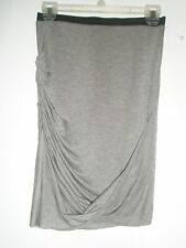 NWT Helmut Lang Layer Skirt Kinetic Jersey Soft Grey Heather MSRP $185 Mult Sz