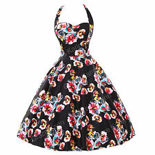 US◆CHEAP FAST◆ VICTORIAN RETRO VINTAGE 50'S ROCKABILLY PINUP SWING EVENING DRESS
